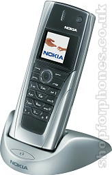 Nokia 9500 in docking cradle